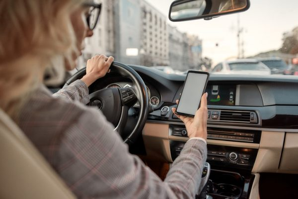 Distracted driving pedestrian risk
